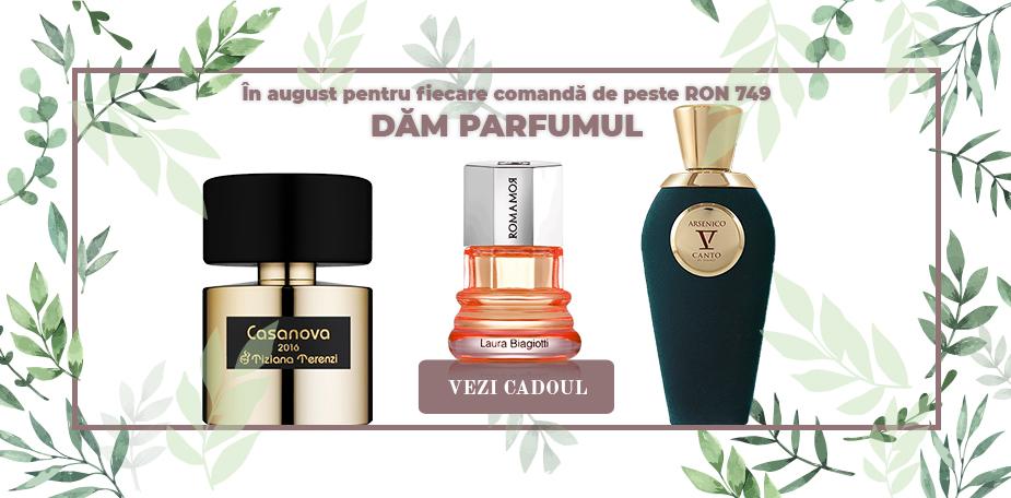 În august pentru fiecare comandă de peste RON 749 dăm parfumul