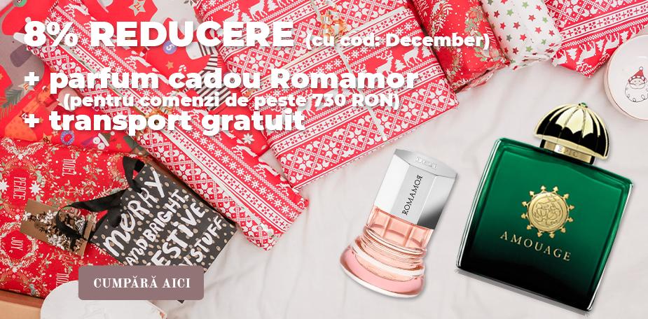 8% reducere la toate produsele din magazin + cadou parfum