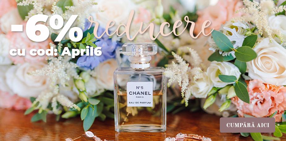 Reducere de 6% pentru toate produsele din magazinul nostru - parfumuri, machiaj și produse cosmetice