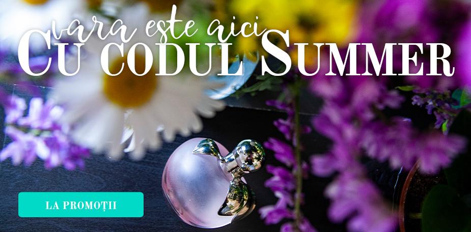"""vara este aici cu codul """"Summer"""" și reducere de 6%"""